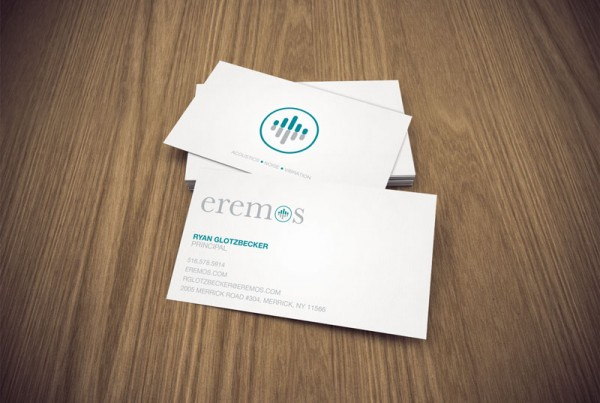 Business card design for the company Eremos.