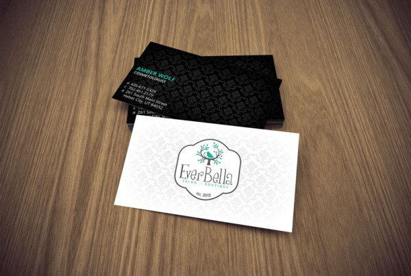 Business card design for the company EverBella.
