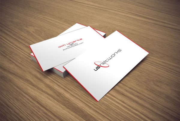 Business card design for US Networks company.