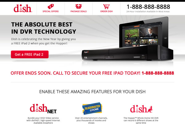 Responsive Satellite TV Site