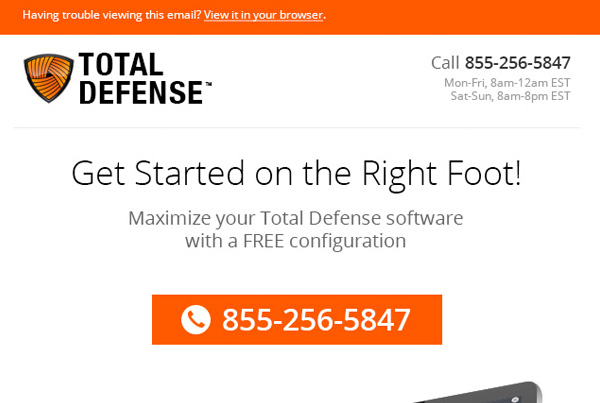Total Defense Email